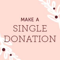 Make a one-time tax-deductible  contribution to our program