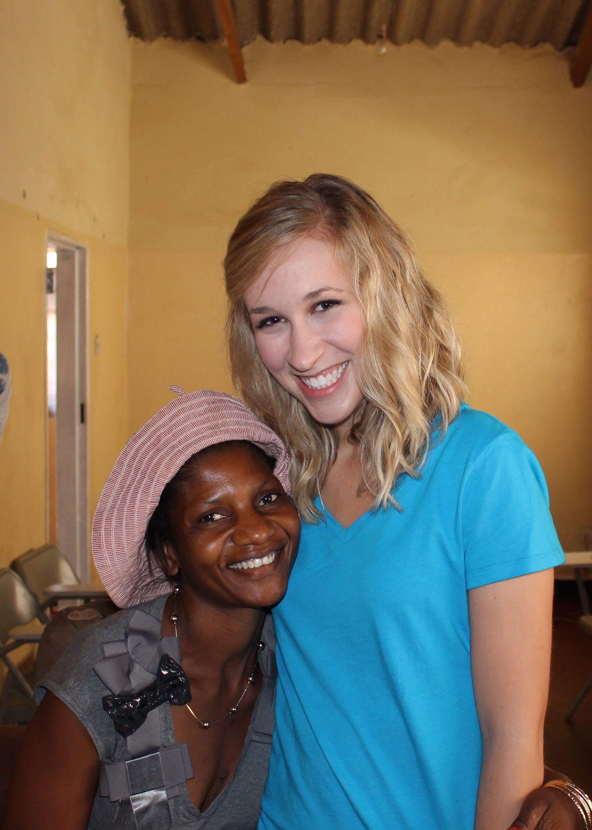 Elina and I in July 2012, the launch of CiH in Zambia