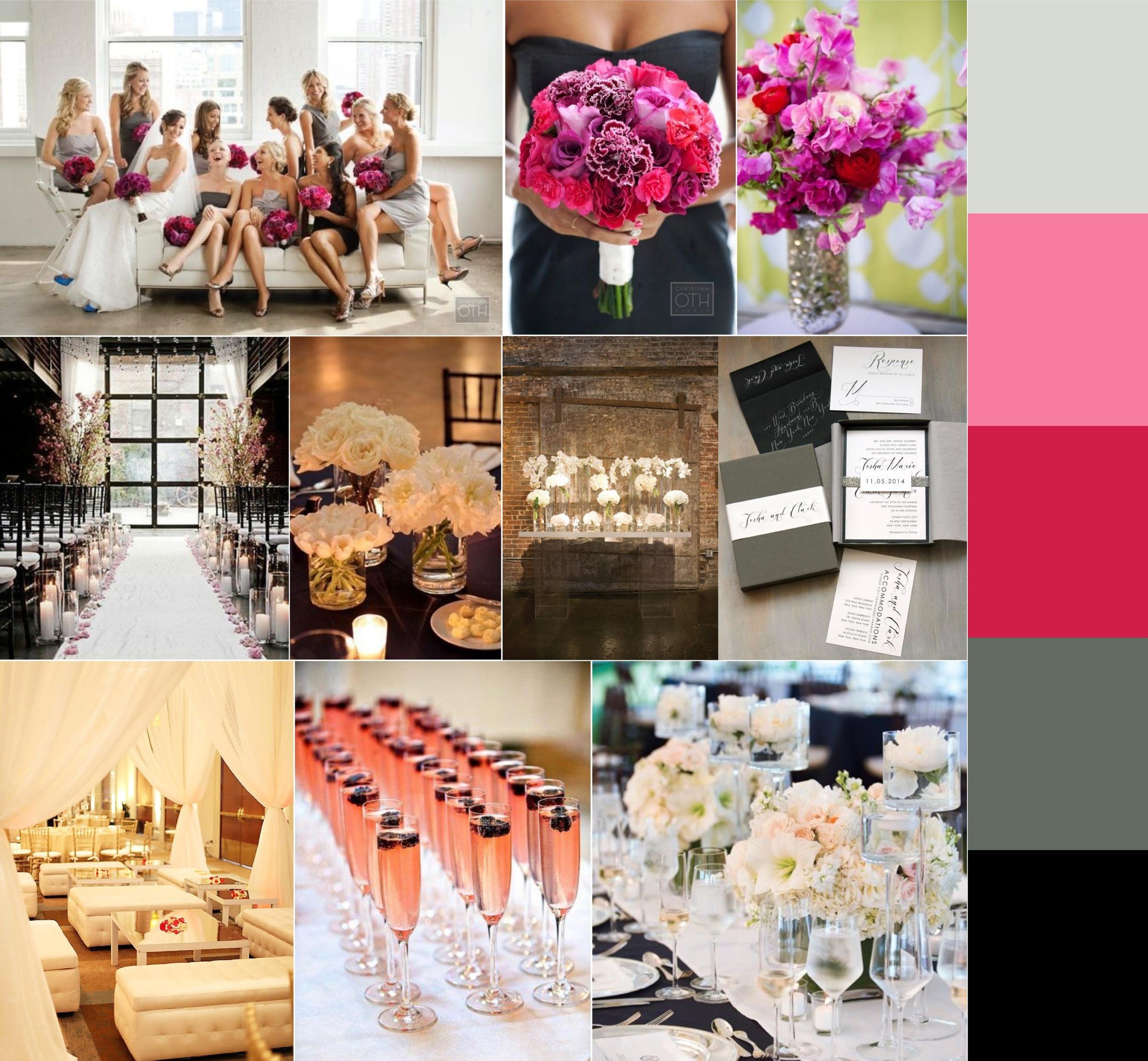 Foundation For the Carolinas Wedding, Wedding, Pink and Grey wedding, Fuchsia Wedding, Uptown Charlotte Wedding, Charlotte Wedding, Wedding Inspiration