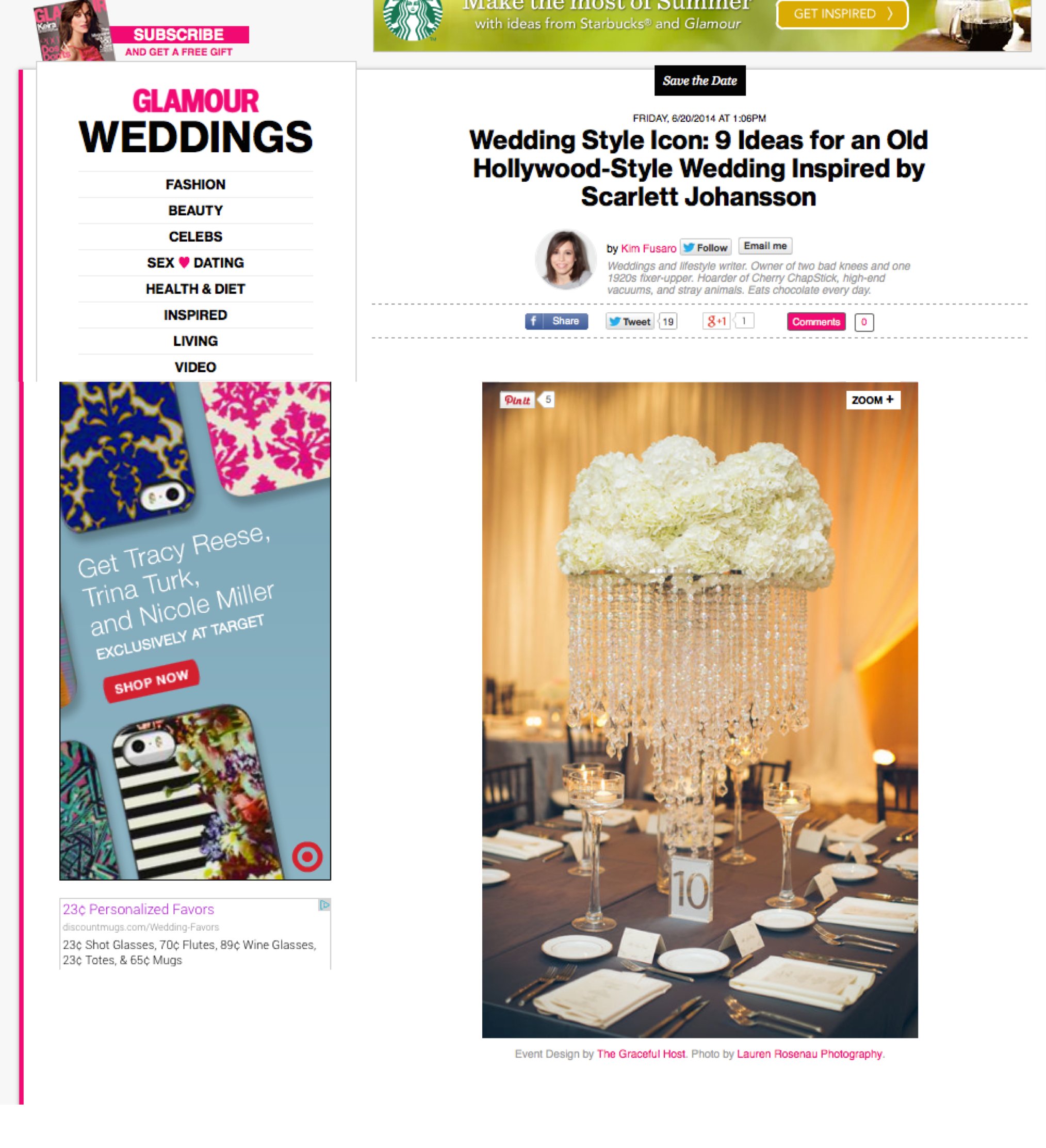The Graceful Host - Glamour Weddings - Feature