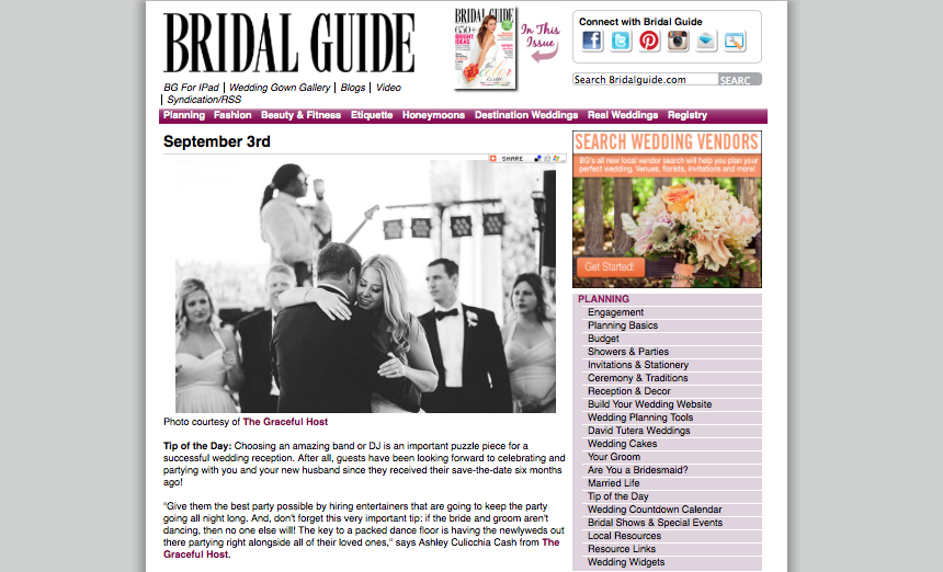 Bridal Guide - Tip of the day