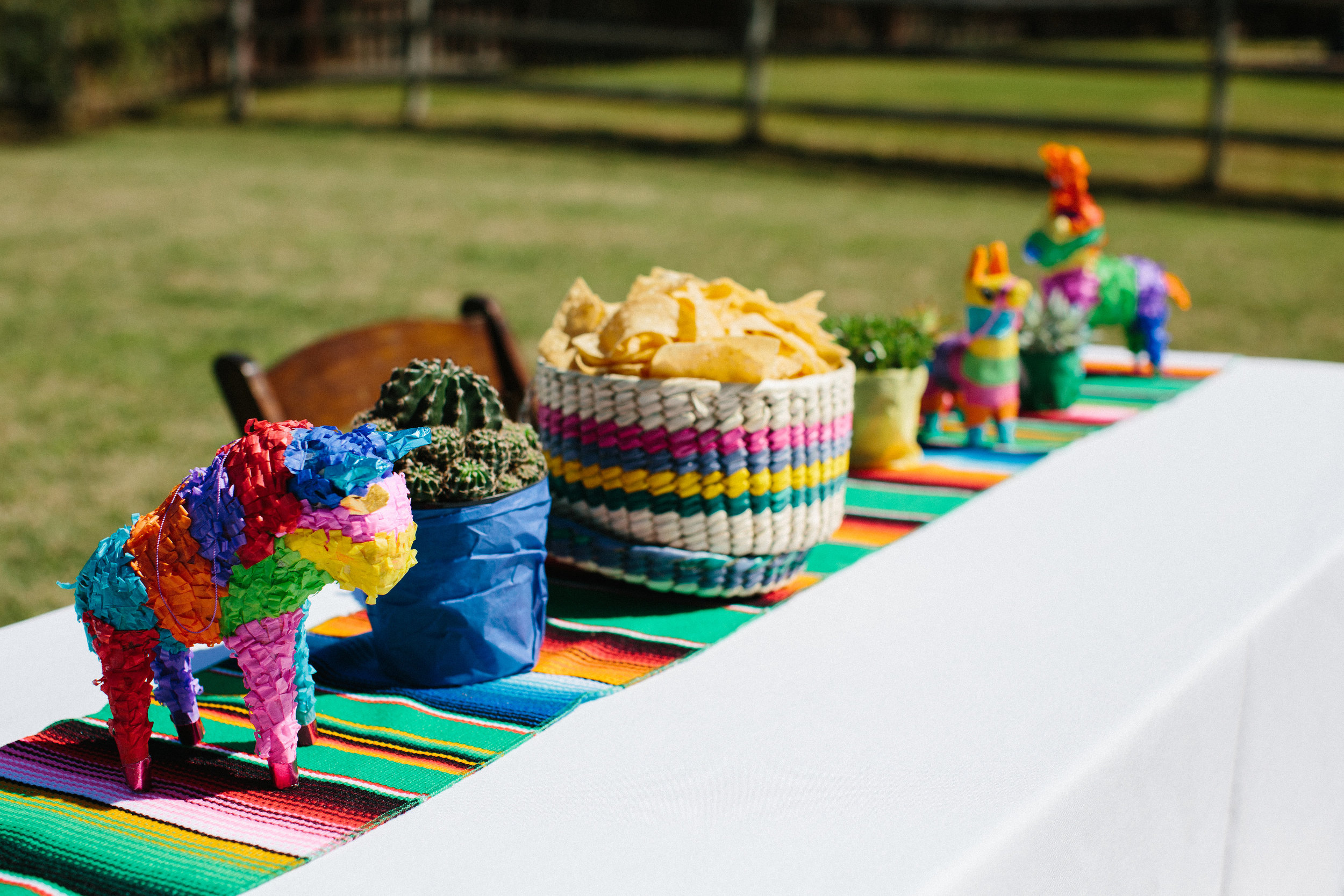 Fiesta birthday party centerpieces for cinco de mayo party