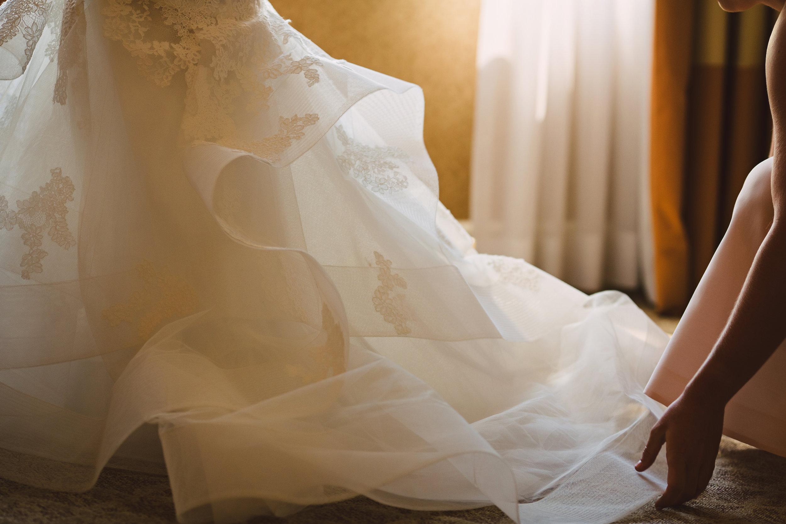 Monique Lhuillier wedding dress, Wedding dress train, Lace wedding dress, Mint Museum Uptown wedding in Charlotte, North Carolina by The Graceful Host