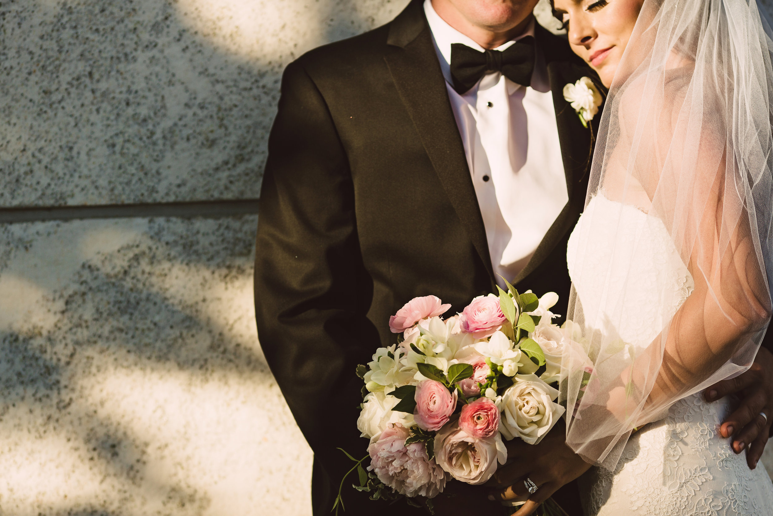 Bridal bouquet, Pink ivory and green bouquet, wedding bouquet, Mint Museum Uptown wedding in Charlotte, North Carolina by The Graceful Host