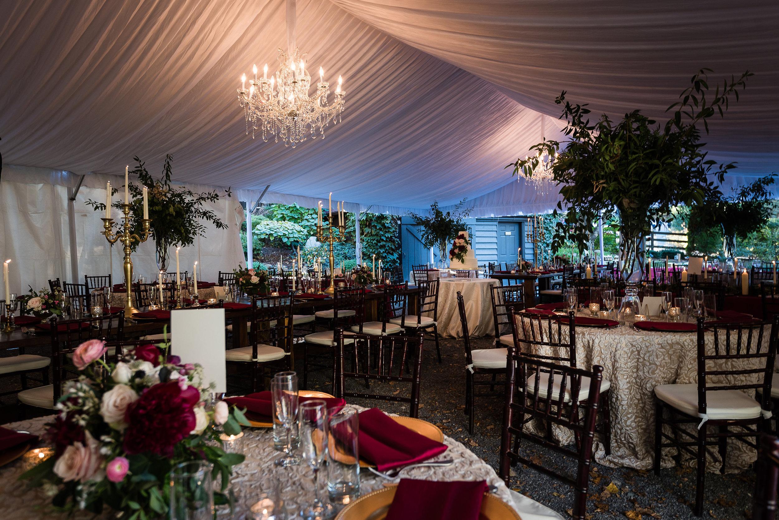 Hawkesdene wedding, Marsala wedding inspiration, Asheville wedding venue, Wedding in the mountains, Greenery inspired wedding, Tall wedding centerpieces, Luxury wedding inspiration