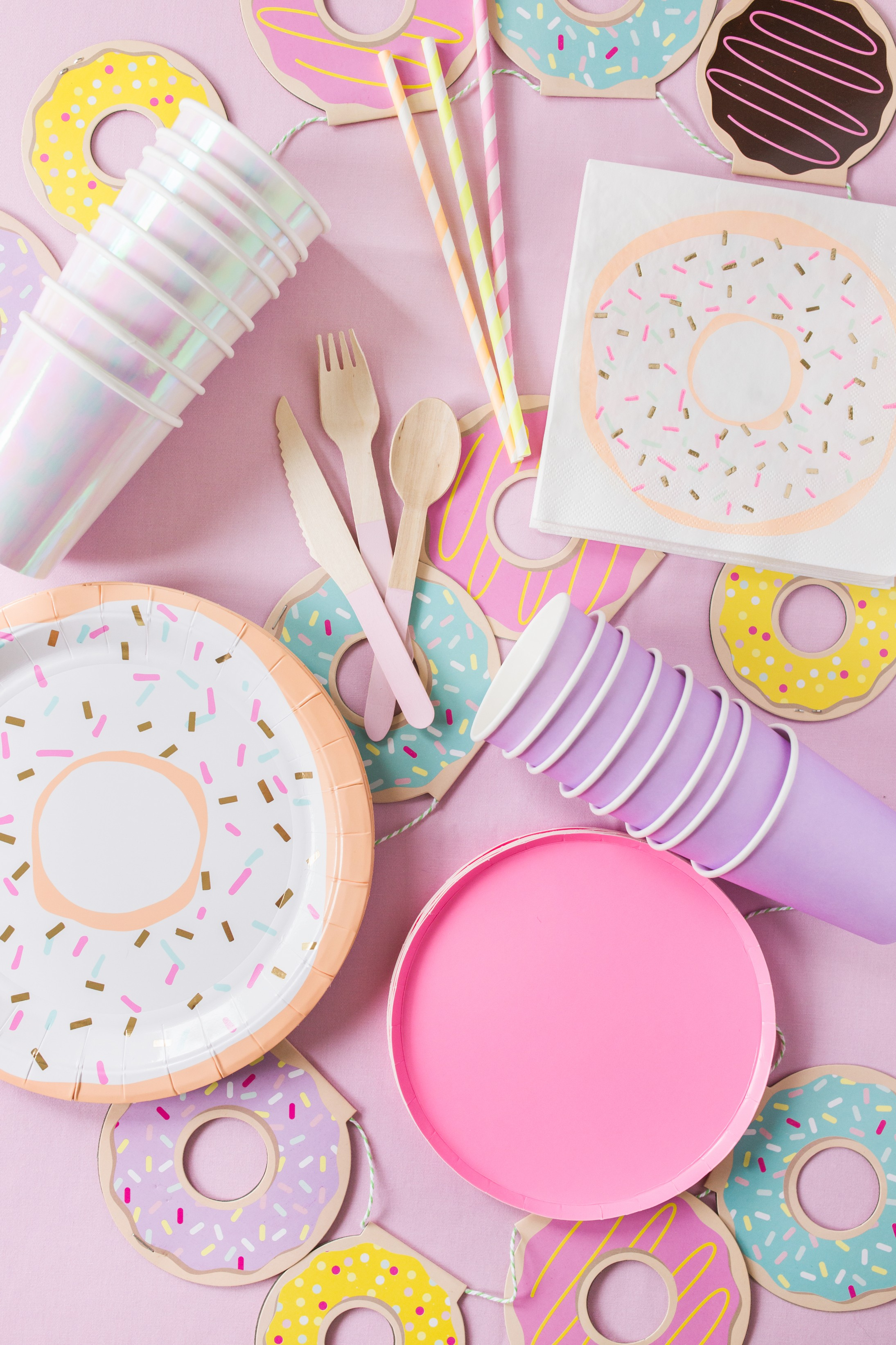 Go Nuts For Donut - It's a donut party! Go nuts for donuts with everything you'll need for the perfect donut celebration.Each Donut kit is perfect for parties with up to 24 party guests.Life's short – eat the donut!