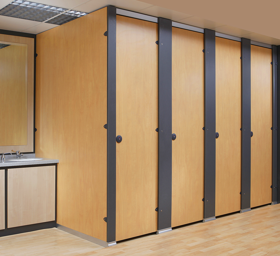 Floor to Cieling Toilet Cubicle System