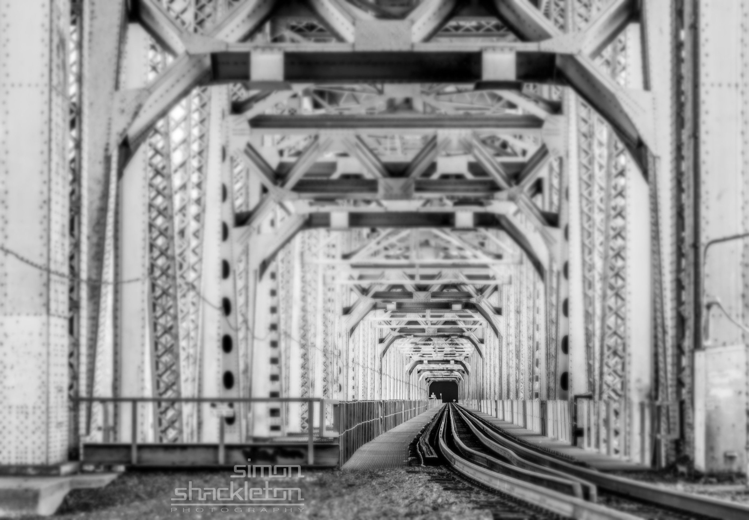 Railroad, under the highway ...