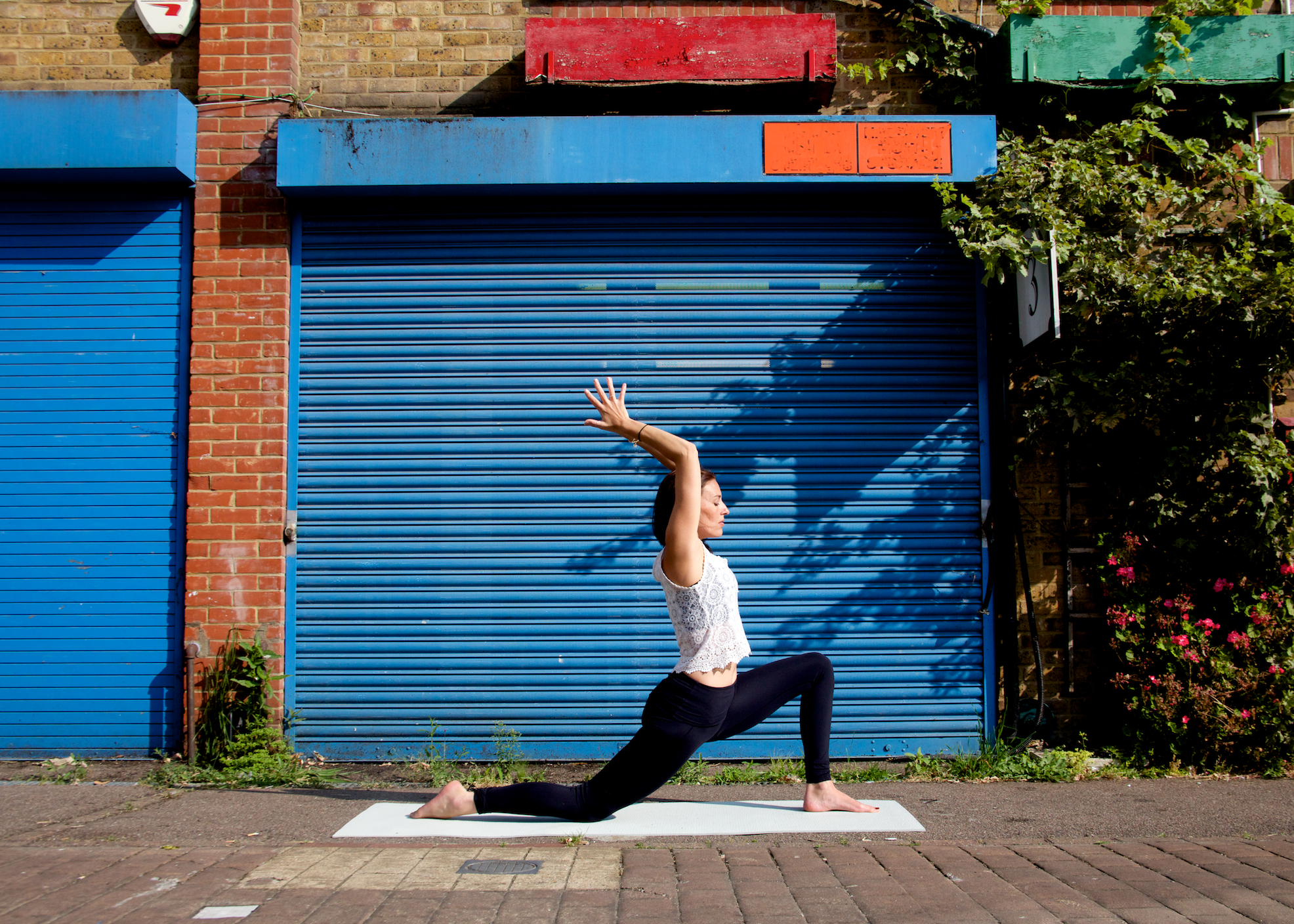 Anjaneyasana (low lunge) helps to create much needed strength and flexibility in the pelvis.