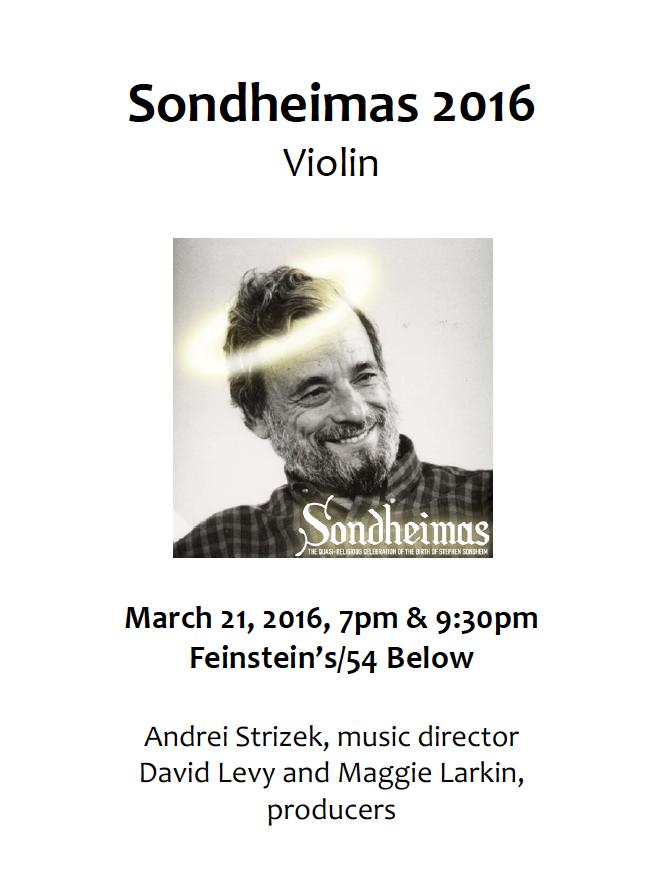 Sondheimas 2016 Violin