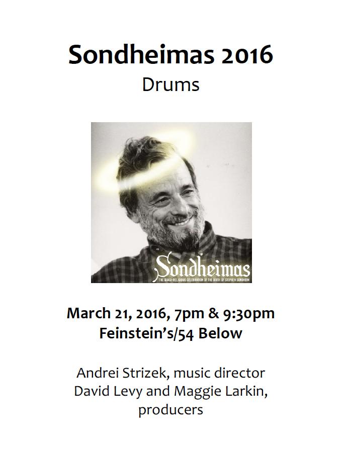 Sondheimas 2016 Drums