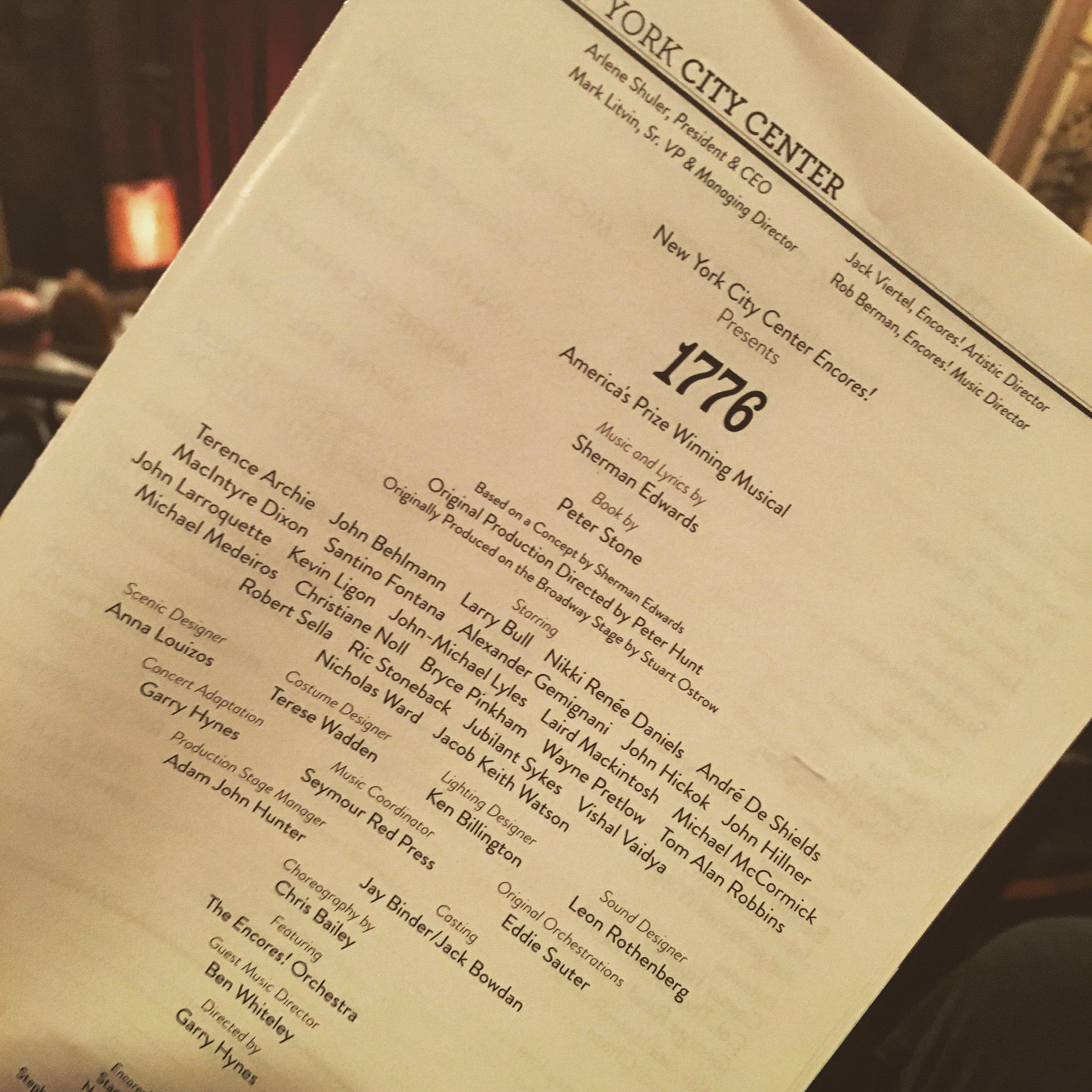 1776 (Musical; City Center Encores!)