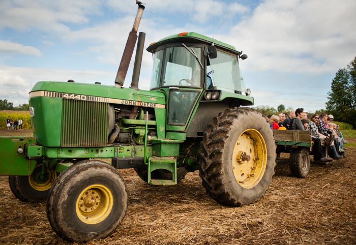 tractor ride, Kruger's Farm, Sauvie Island