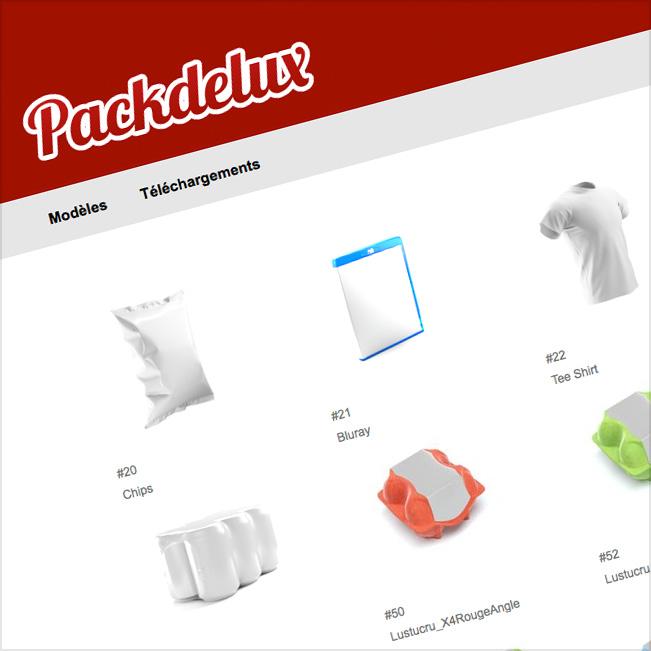 Packdelux™  Un service en ligne révolutionnaire de création, d'adaptation et de déclinaison de packaging 3D automatisé.