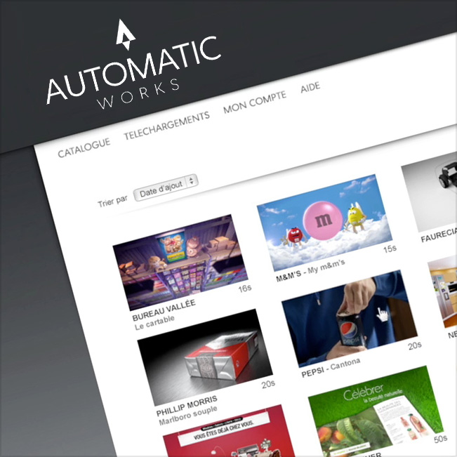Automatic Works™   La production audiovisuelle automatisée à portée de clic. Que diriez-vous de pouvoir gérer vous-même la déclinaison de vos contenus ?