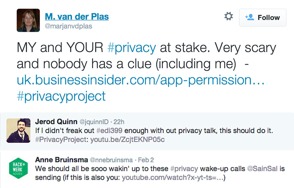 #privacyproject twitter response