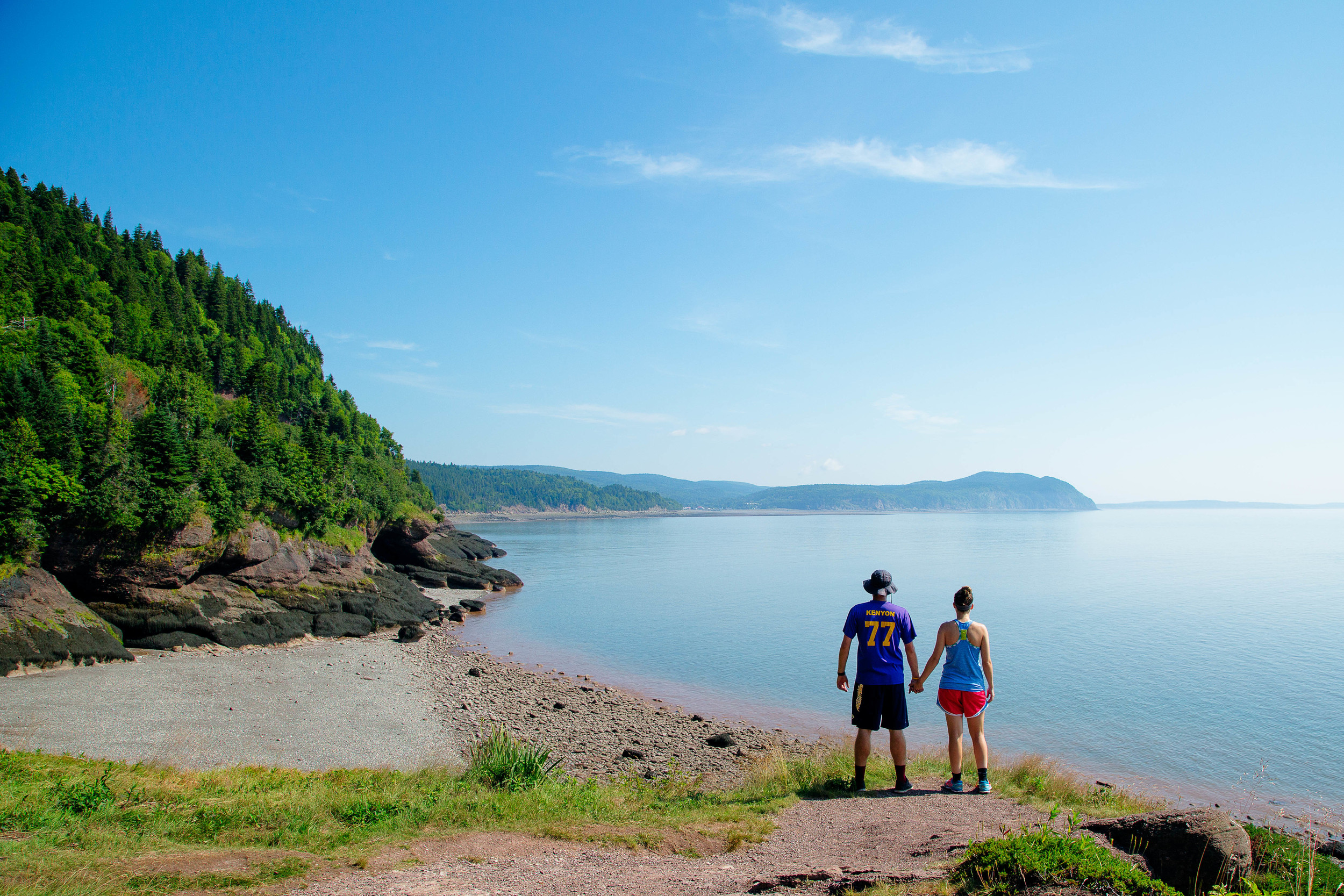 Looking over the Bay of Fundy