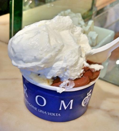 Crema di Grom and Cioccolato fondente