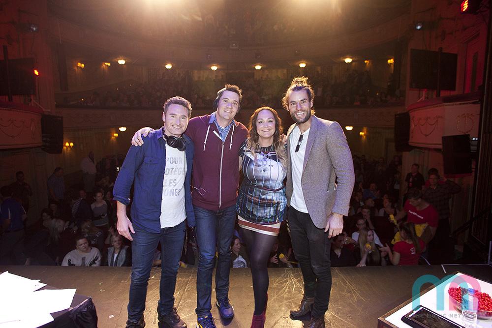 Ash w Hughsy and Kate and Ed for Nova FM 2013.