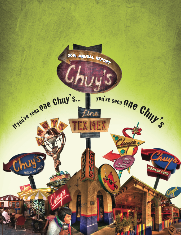Chuy's Annual Report - Account management, copy editing and copywriting for inaugural AR.