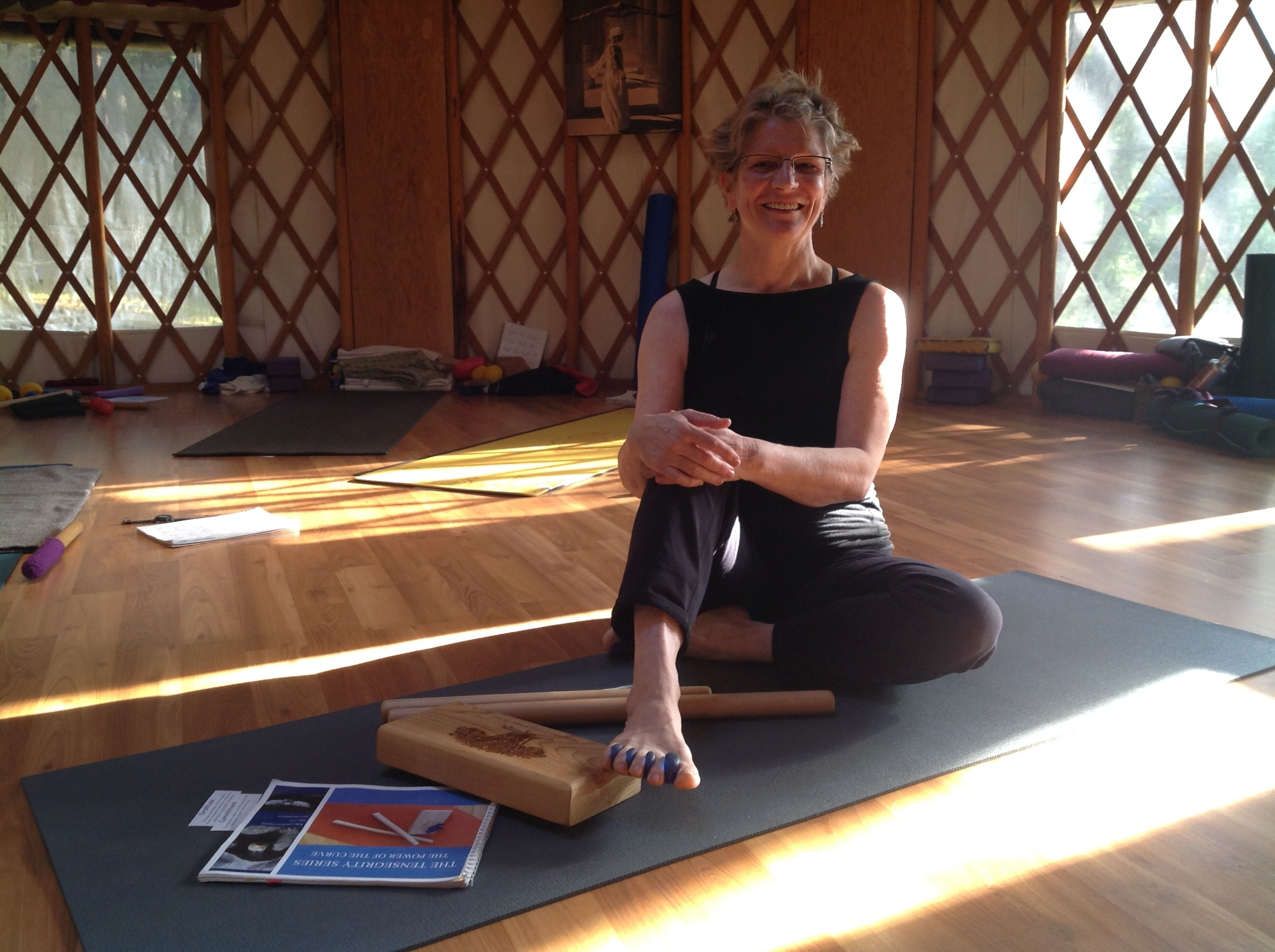 TRUDY AUSTIN  Trudy Austin is a dedicated Yoga teacher, who trained and continues to work with Gioia Irwin, Chris Clancy and Orit Sen Gupta. Her passion is to bring ease, stillness and fluidity to our minds and bodies. She is accredited with Vijnana Yoga International
