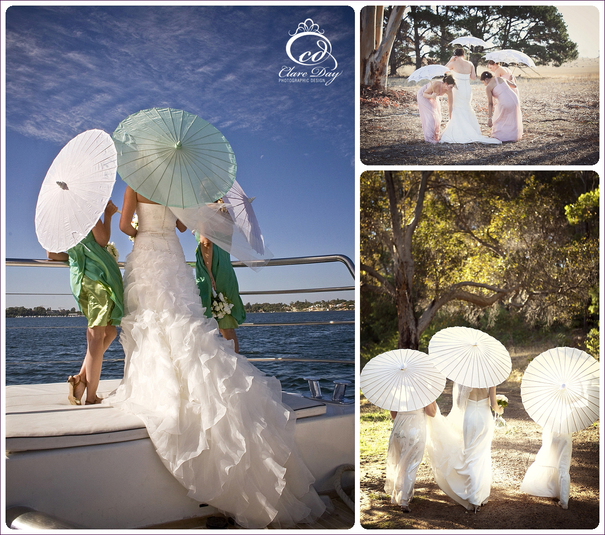 Parasol wedding boat
