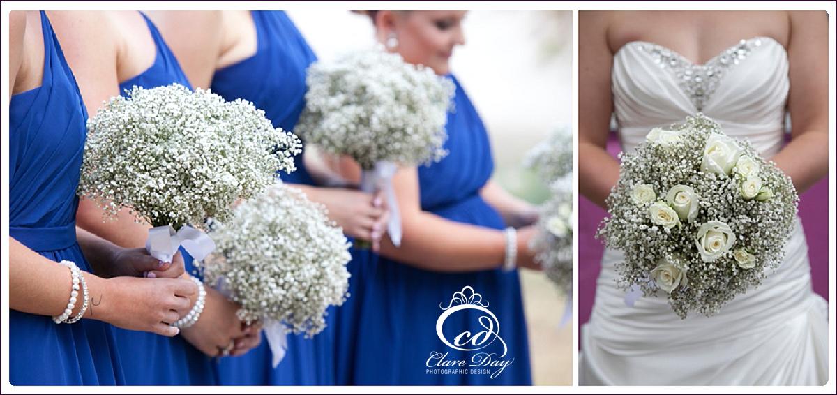 baby's breath summer wedding flowers