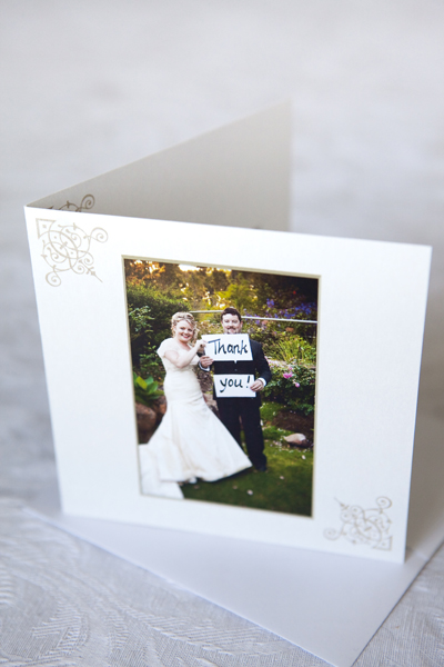 wedding thank you card idea