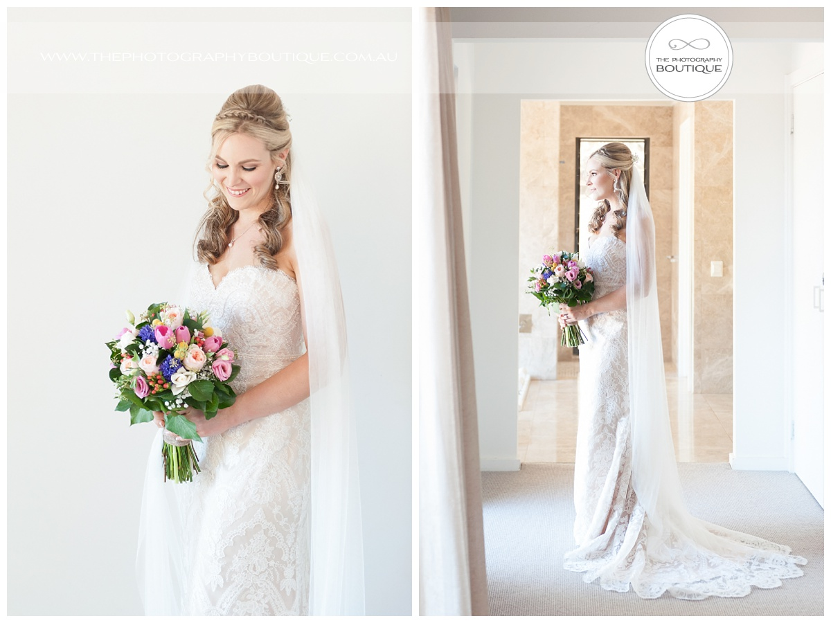 beautiful classic bridal portrait at chandeliers on abbey margaret river