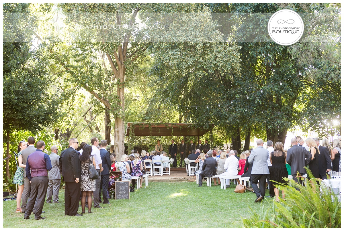 chandeliers on abbey margaret river wedding ceremony