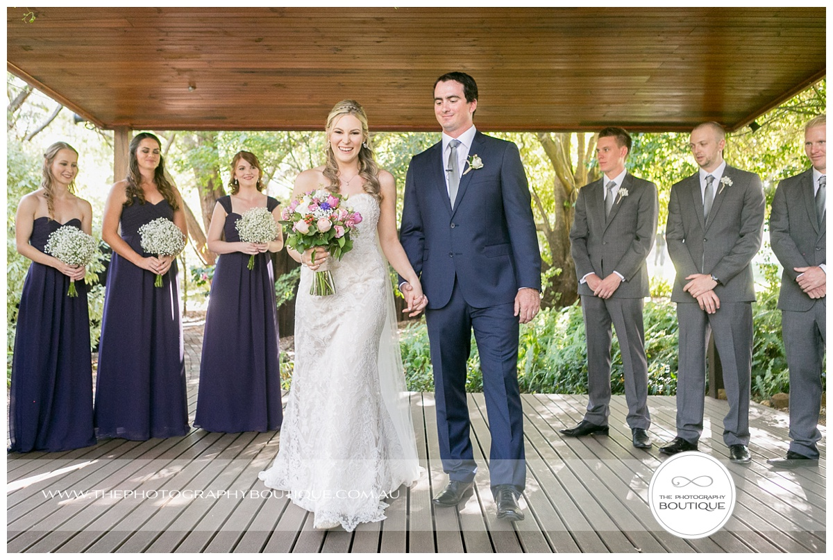 announcing husband and wife at chandeliers on abbey margaret river