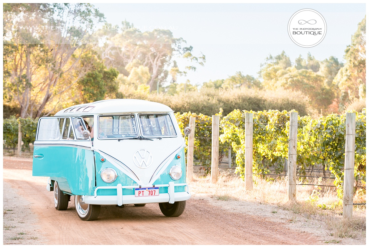 wedding kombi van at margaret river winery