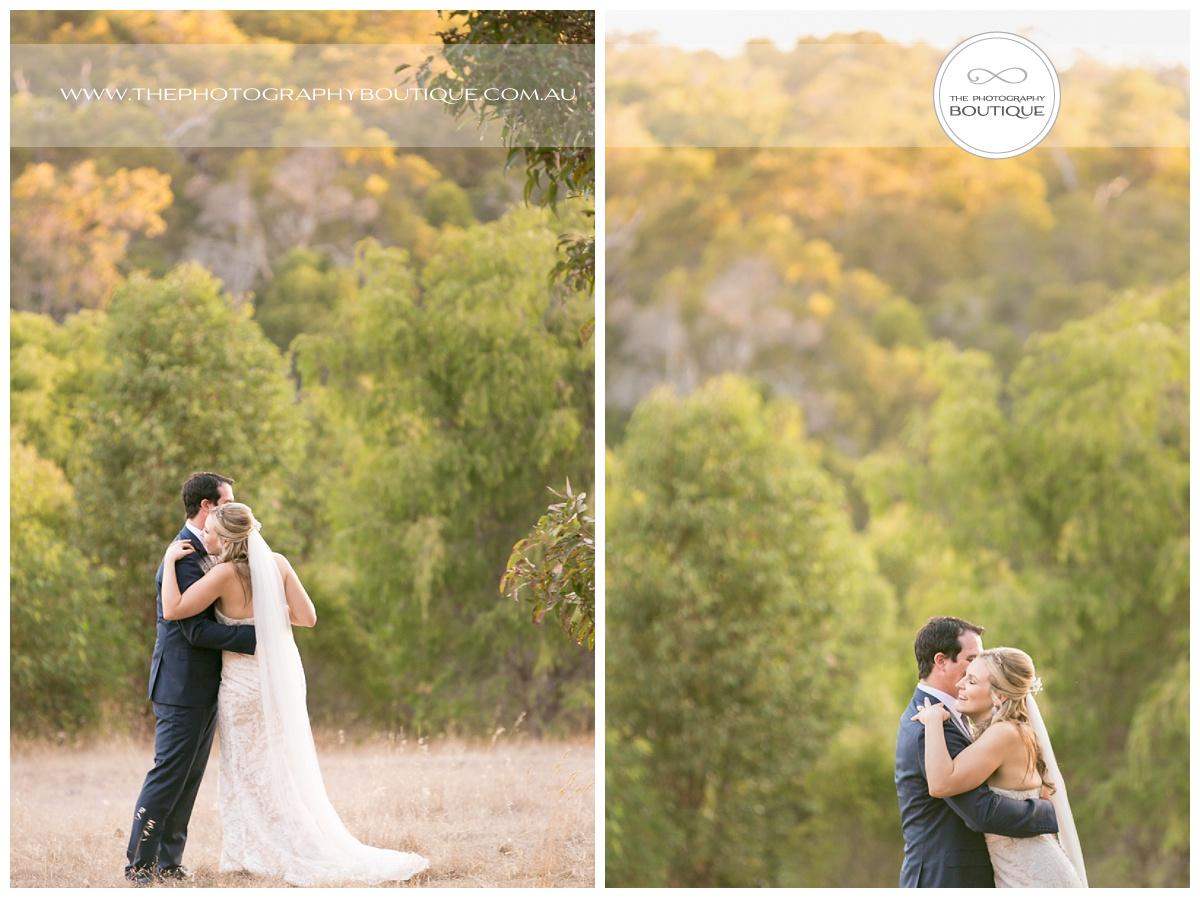 bride and groom dancing in a margaret river paddock