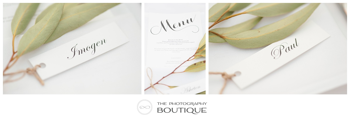 table seating labels reception styling