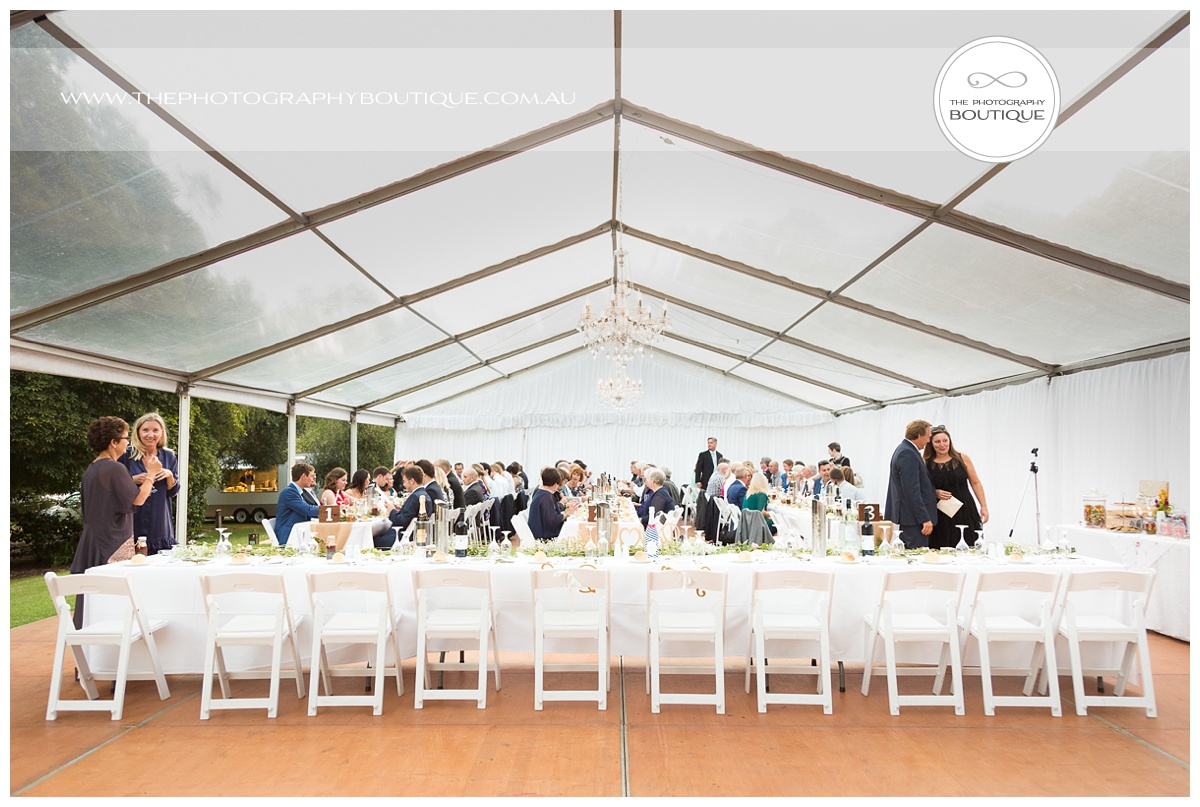 chandeliers on abbey wedding reception marquee margaret river