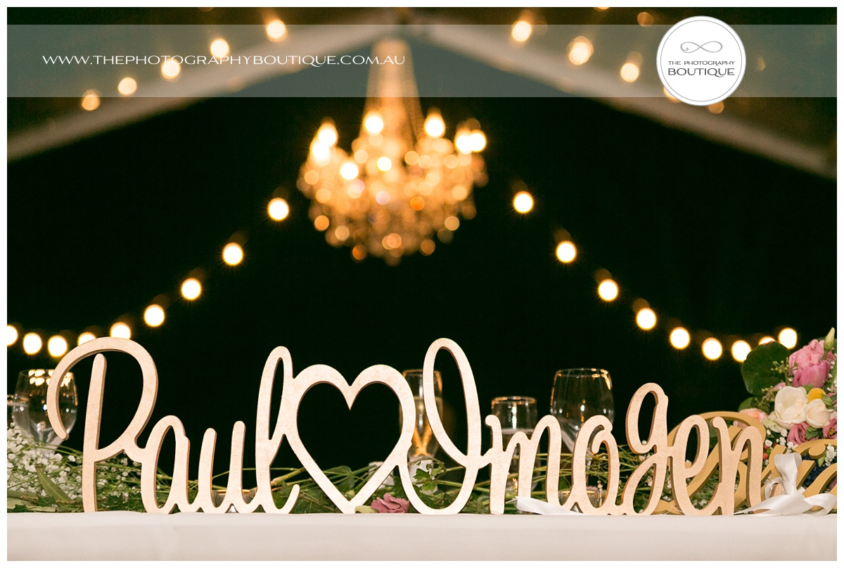 personalised wooden names sign for wedding