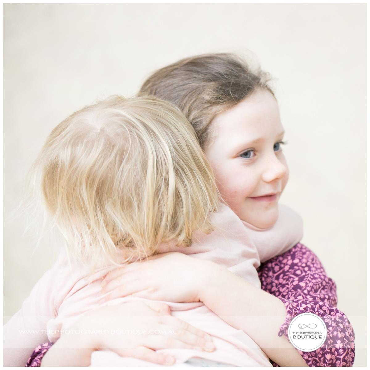 Portrait of Sister's Cuddling