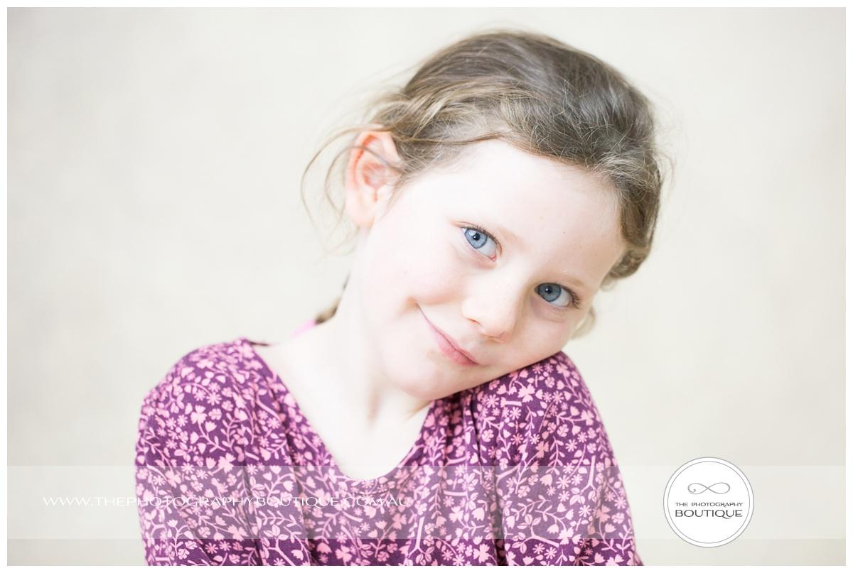 sweet five year old portrait