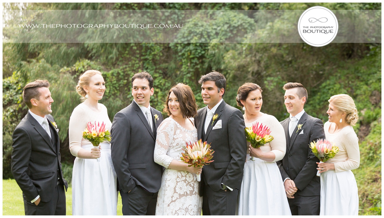 Bridal party in the gardens at Caves House Yallingup