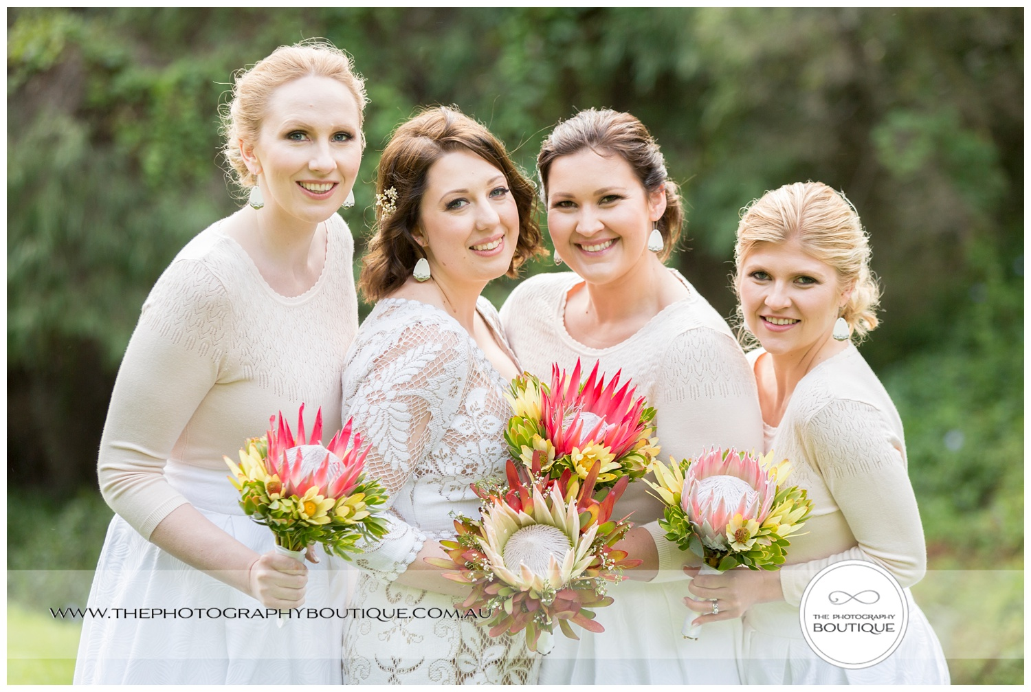 bride and bridesmaids at Caves House Yallingup