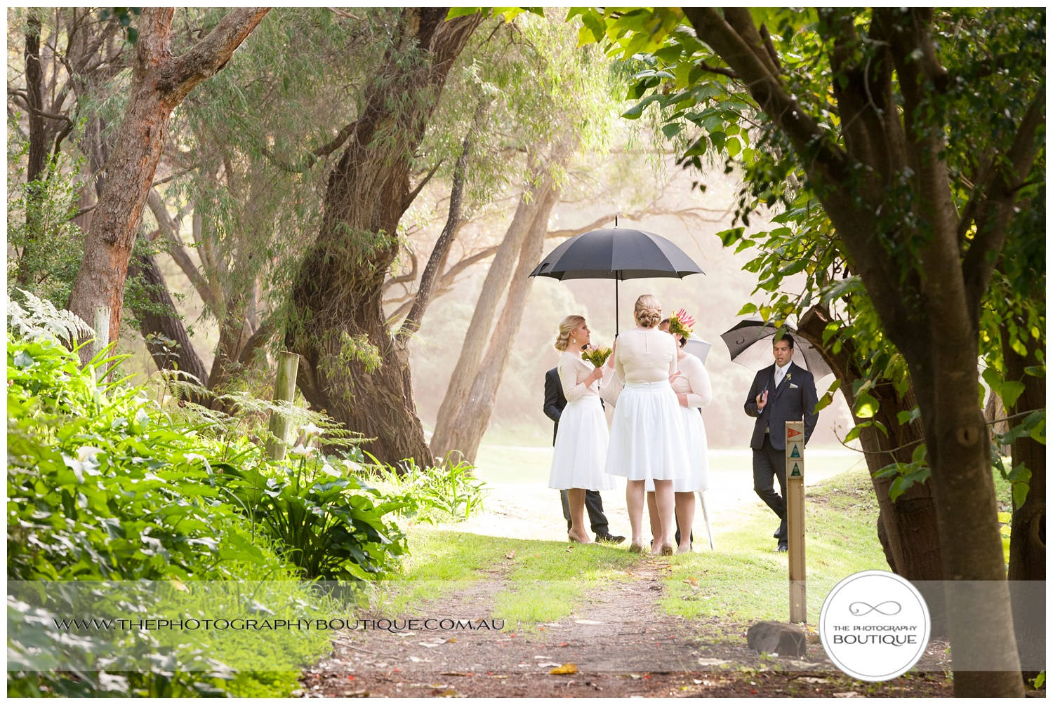 candid bridal party portrait at Caves House Yallingup