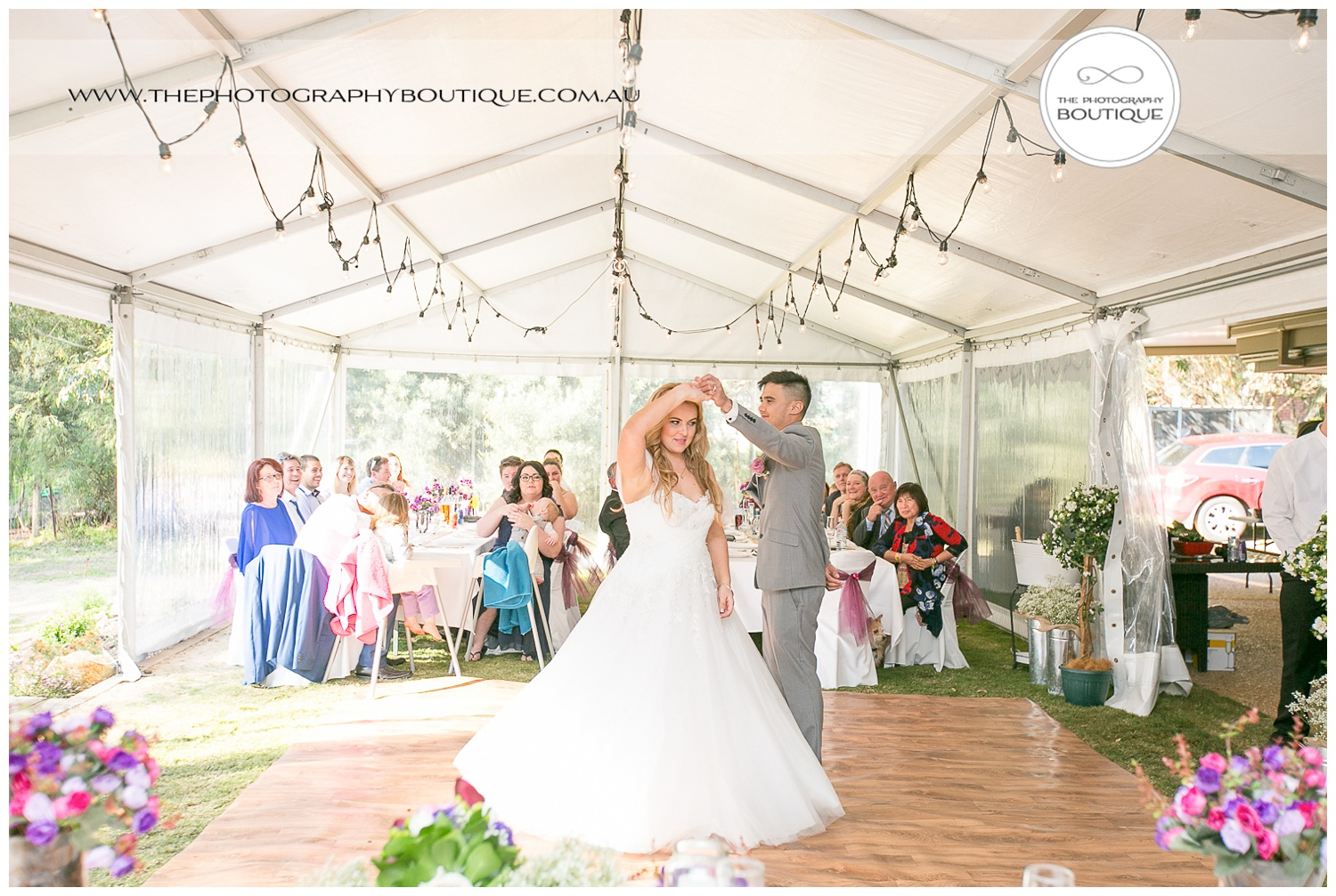 Bride and groom's first dance at Roelands Bunbury wedding