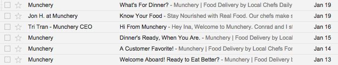 *  Munchery or Jon H. at Munchery or Tri Tran - Munchery CEO