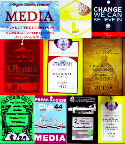 My press credentials for the Presidential Inauguration and select other events.