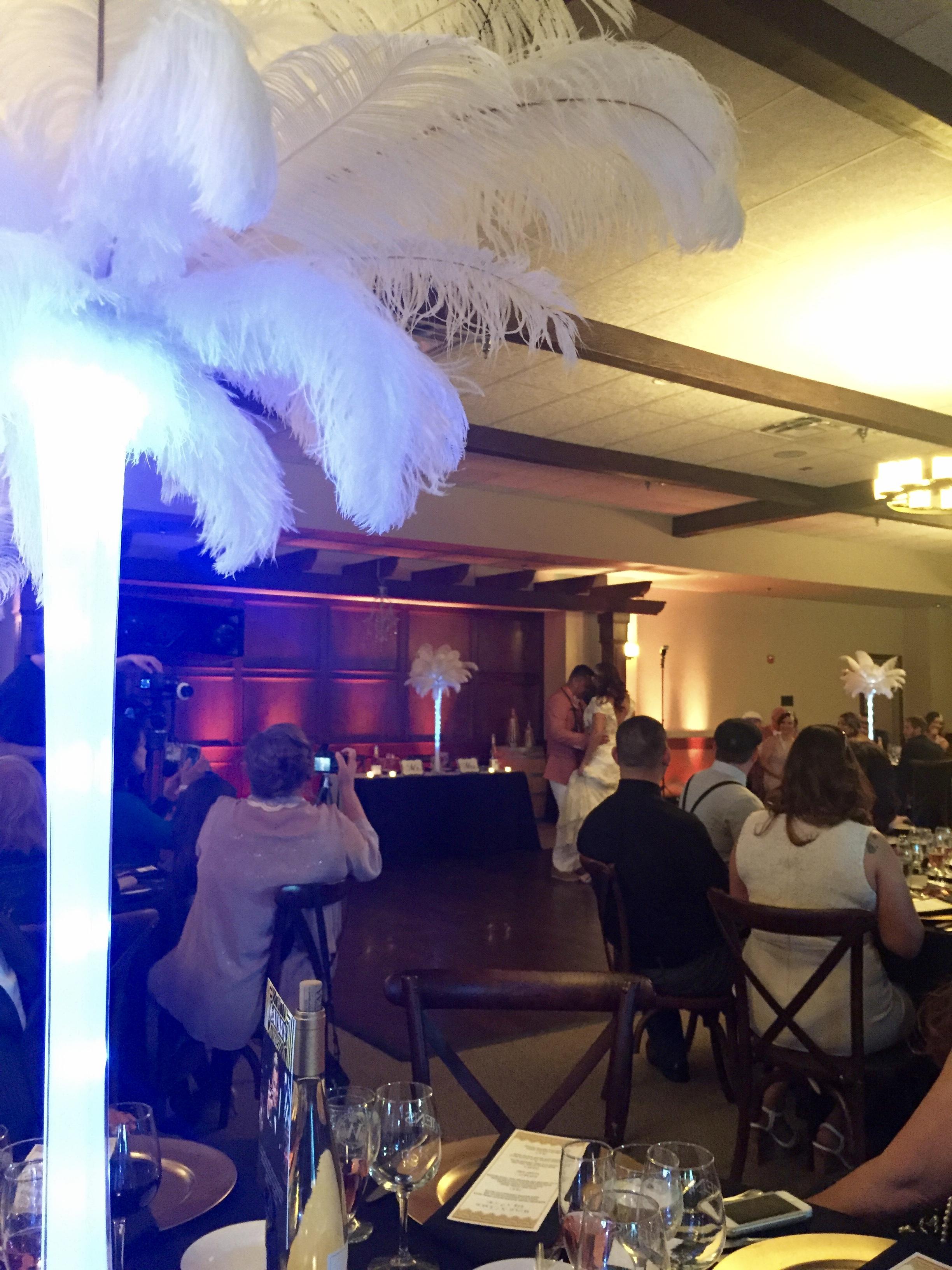 It was a Great Gatsby themed wedding!