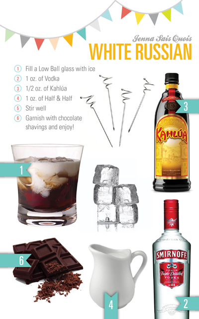 Chocolate White Russian Recipe Check out more cocktails by  jennasaisquois