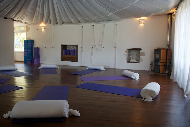We converted a former barn into a stunning yoga shala.                                   Image  © Brian Tollit
