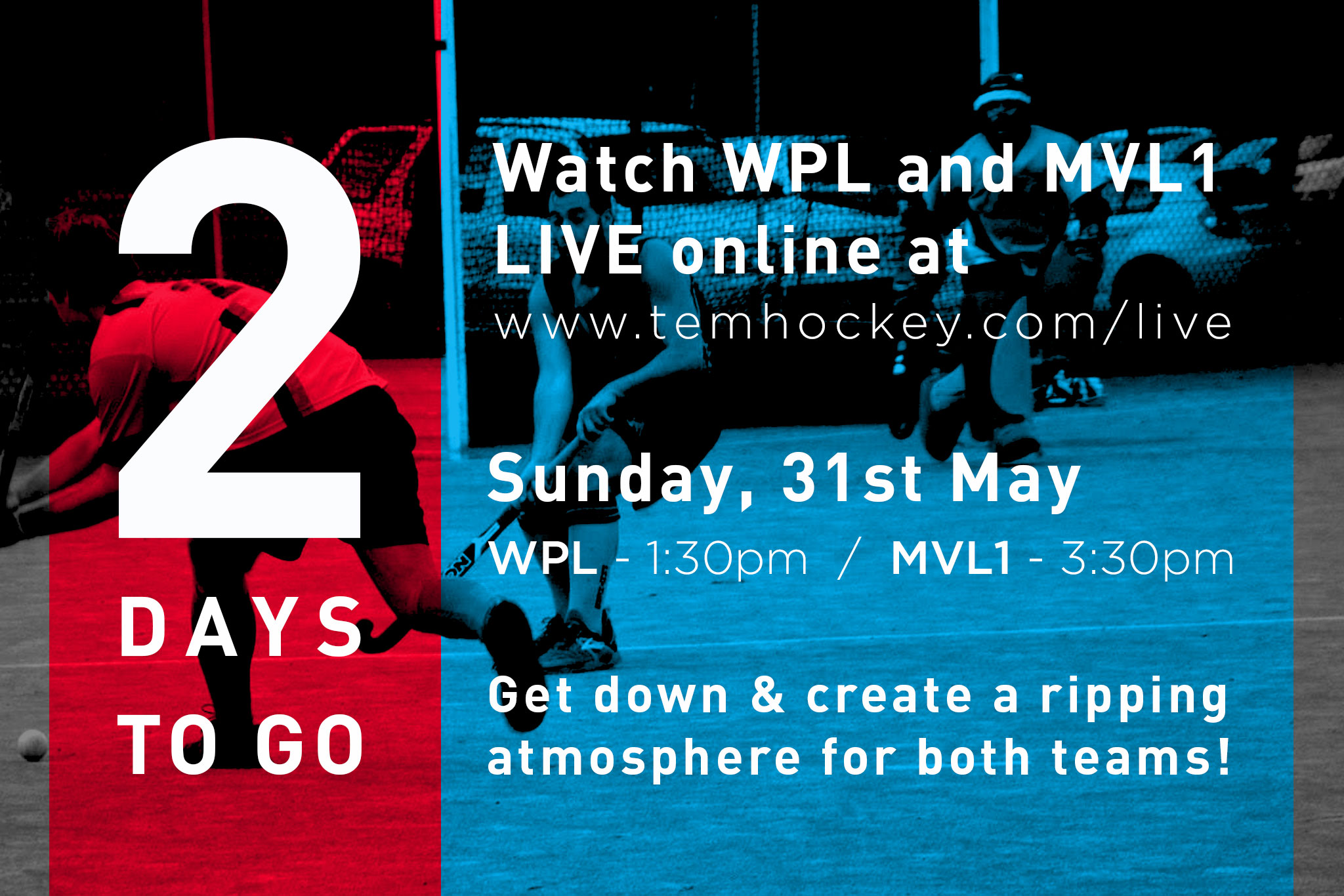 Only 2 days left until our first ever live stream down at H1