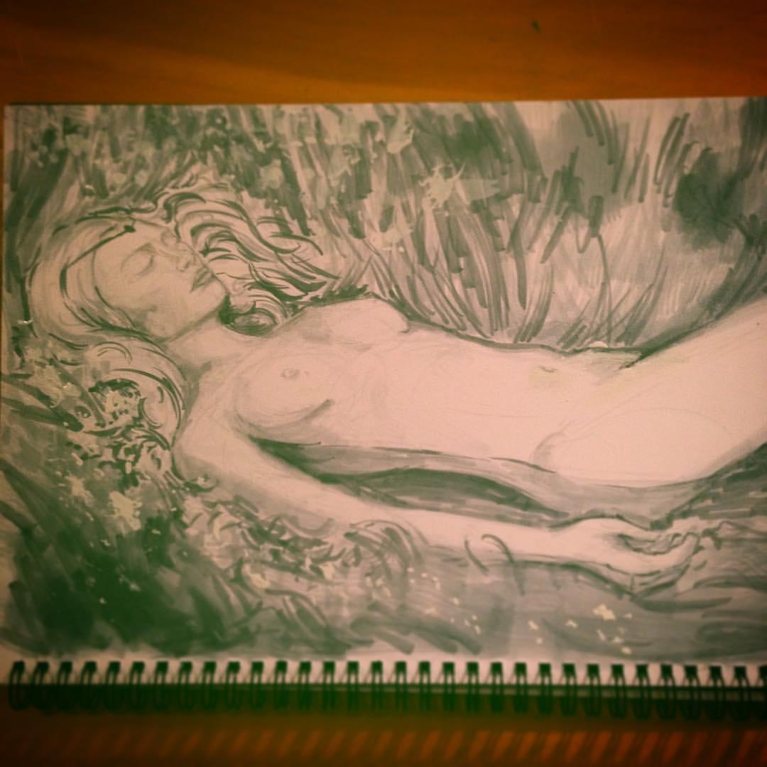 #sketch #arthabit #drawing #illustration #study #zhangjingna #photographer #sketchbook #art #marker #copic #ink