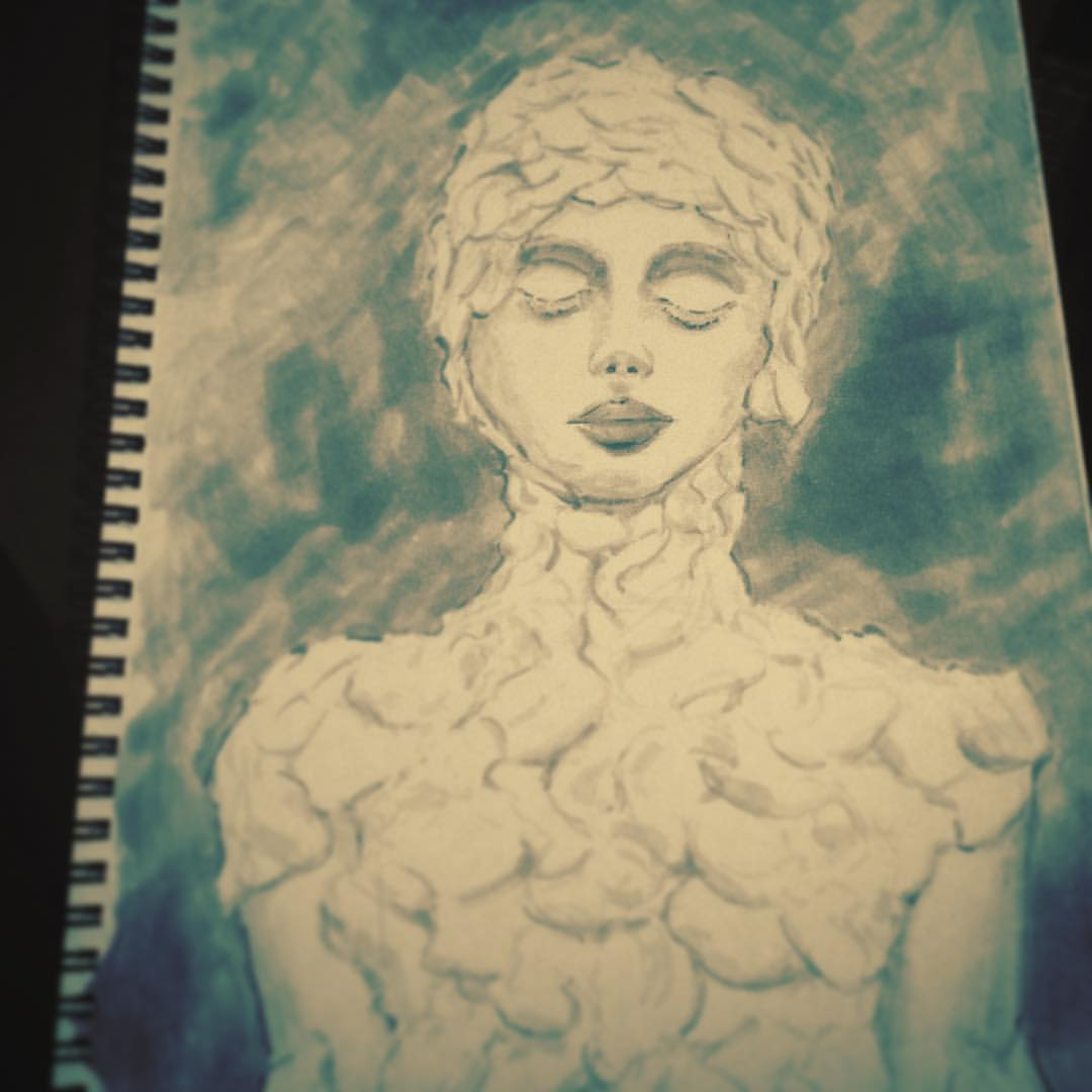 #arthabit #art #sketchbook #sketching #drawing #copic #study #zhangjingna #photographer #winterrose #illustration #ink